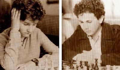 Los ajedrecistas Llorenç Maza Navarro y Jordi Algué Alós