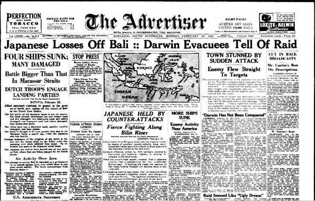 Adelaide Advertiser, 23 February 1942 worldwartwo.filminspector.com