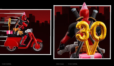 San Diego Comic-Con 2021 Exclusive Marvel Deadpool Birthday Scooter by Hot Wheels x Mattel