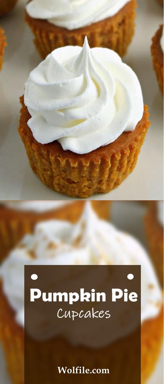 PUMPKIN PIE CUPCAKES #pumpkin #dessert #Cupcakes #Pie