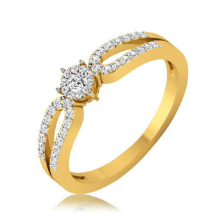 Dazzling Two Layered Diamond Rings