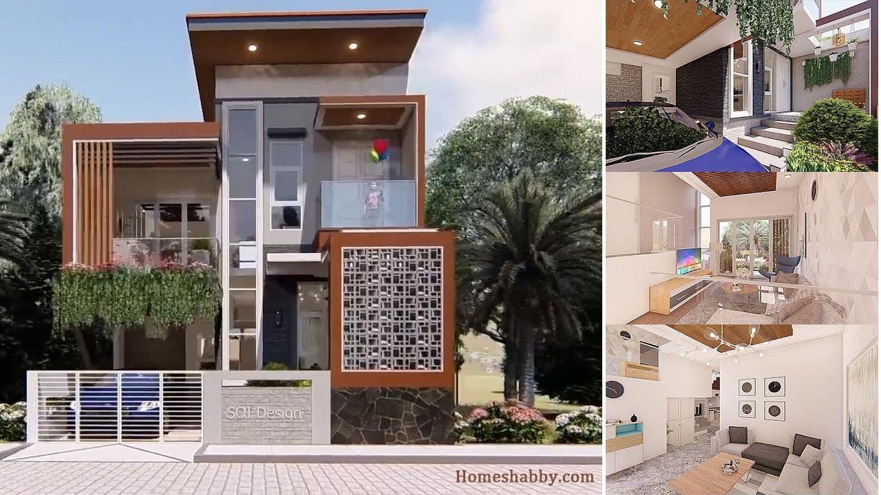 Desain Dan Denah Rumah Minimalis Split Level 7 X 13 M Satu Setengah Lantai 3 Kamar Tidur Musholla Homeshabby Com Design Home Plans Home Decorating And Interior Design