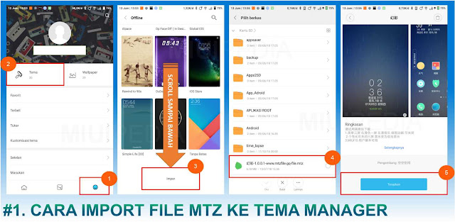 Cara import File MTZ ke Theme Manager