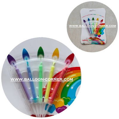 Lilin Ultah Api Warna Set 5 Pcs (MURAH)
