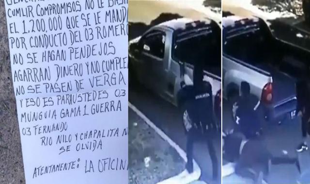 """El Comisionado de Guadalajara es amenazado por """"La Oficina""""  con Narcomanta hace días levantaron y ejecutaron a policía que participo en balacera donde capturaron a 33 de El CJNG"""