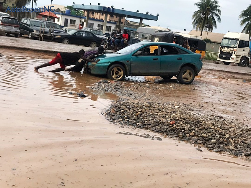 More Shocking Pictures of The Damaged Lagos-Badagry Expressway