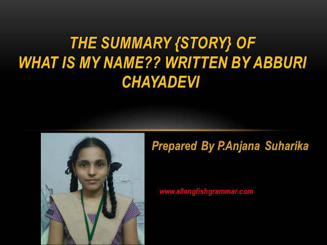 The-Summary-of-What-is-My-Name-Written-By-Abburi-Chayadevi