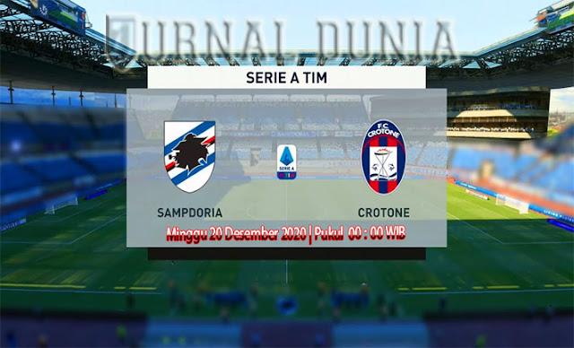 Prediksi Sampdoria vs Crotone  , Minggu 20 Desember 2020 Pukul 00.00 WIB @beIN Sports