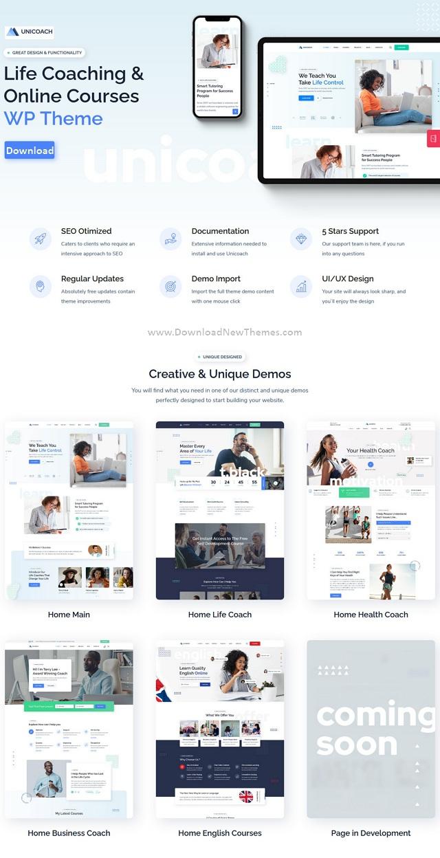UniCoach Multipurpose UpSkill WordPress Theme