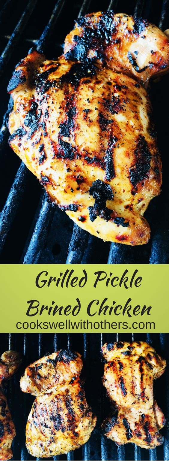 Grilled Pickled Brined Chicken