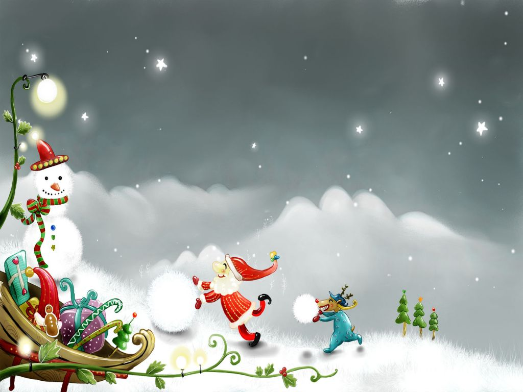 Animals Zoo Park: Free Christmas Snowman Wallpapers For
