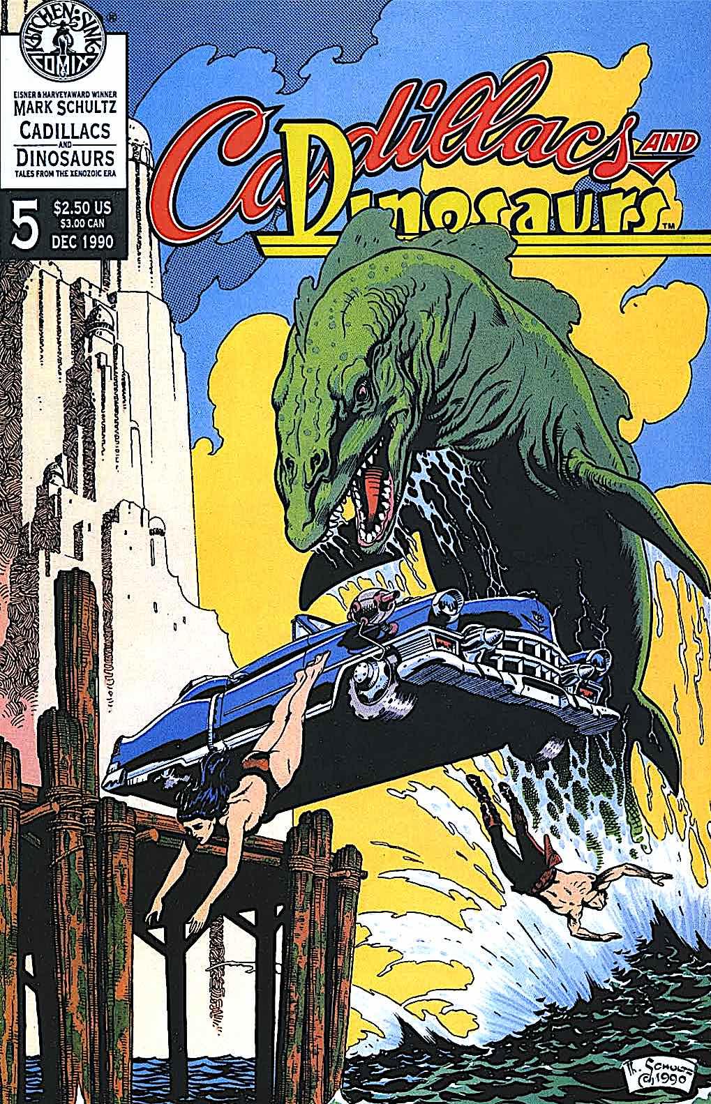a 1990 Mark Schultz comic book, Cadillacs and Dinosaurs