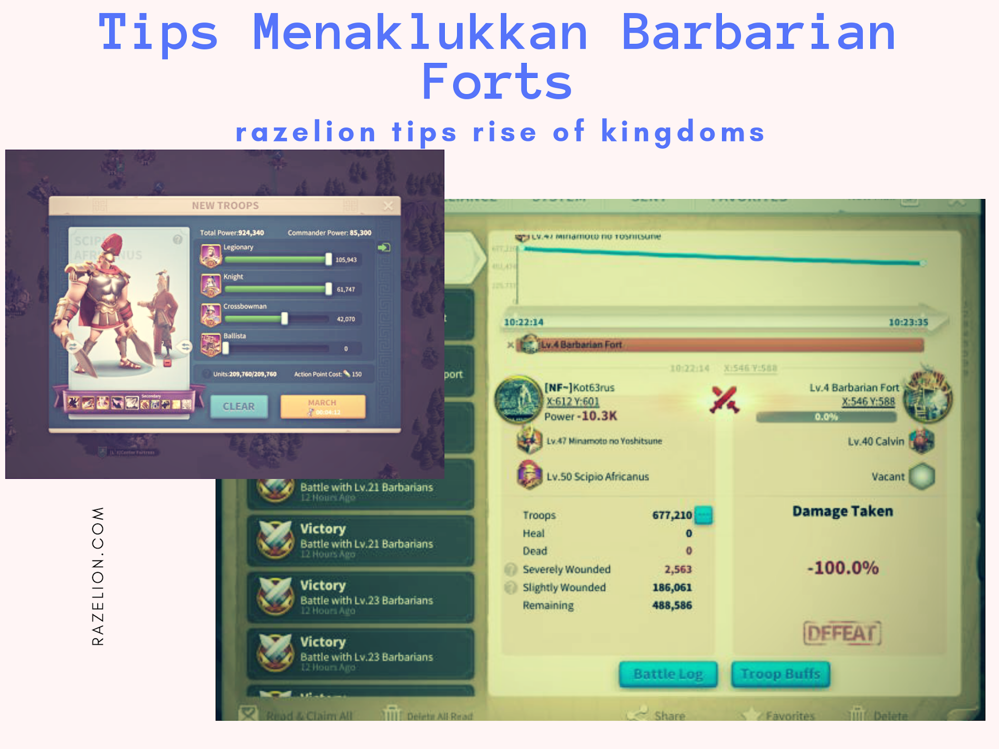 How to defeat Barbarian Forts Rise Of Kingdoms
