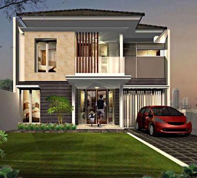 Model Desain Rumah Minimalis 2 Lantai Sederhana Luas Tanah 50m2