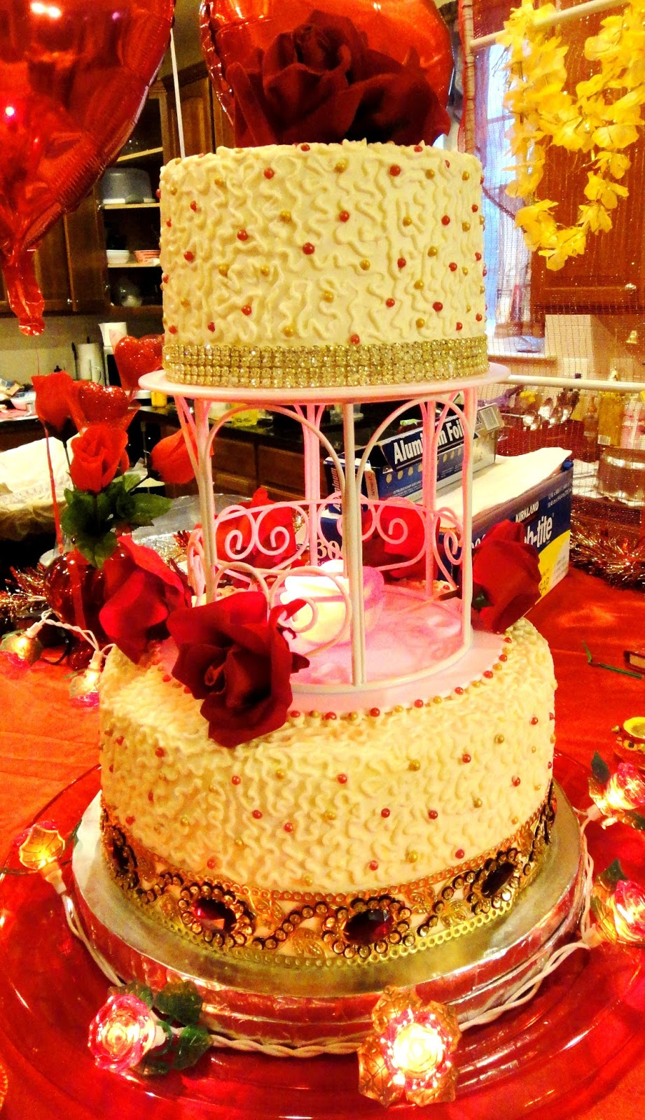 Sara Writes: Jeweled Simply Special Wedding Cake