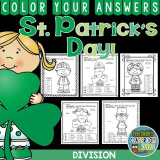 St. Patrick's Day Color By Number Division