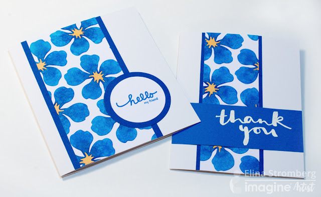 Cards with DIY patterned papers