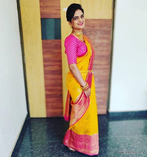 south indian half saree designs
