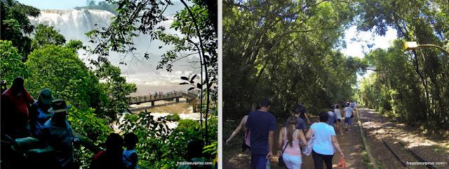 Parques das cataratas do Iguaçu, lado brasileiro e argentino