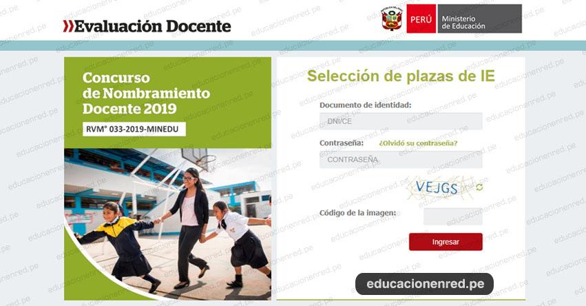MINEDU: Aplicativo de Selección de Plazas - Nombramiento Docente 2019 [ETAPA DESCENTRALIZADA] www.minedu.gob.pe