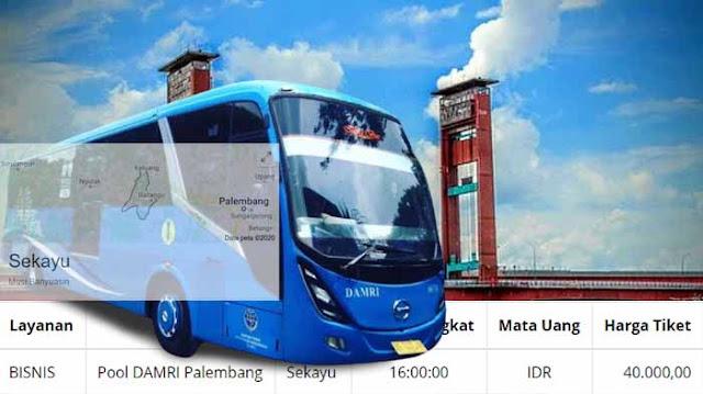 Jadwal Damri Palembang Sekayu & Harga Tiket Terbaru