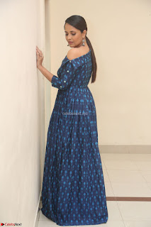 Anchor Anasuya in a Blue Gown at Jai Lava Kusa Trailer Launch ~  Exclusive Celebrities Galleries 048.JPG