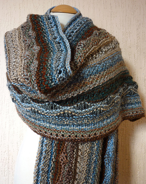 Rock Pool Wrap - Free Pattern