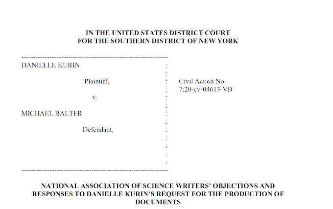National Association of Science Writers rejects subpoena demands from archaeologist suing one of its members for defamation [Update Dec 22: Kurin's attorneys have withdrawn the subpoena]