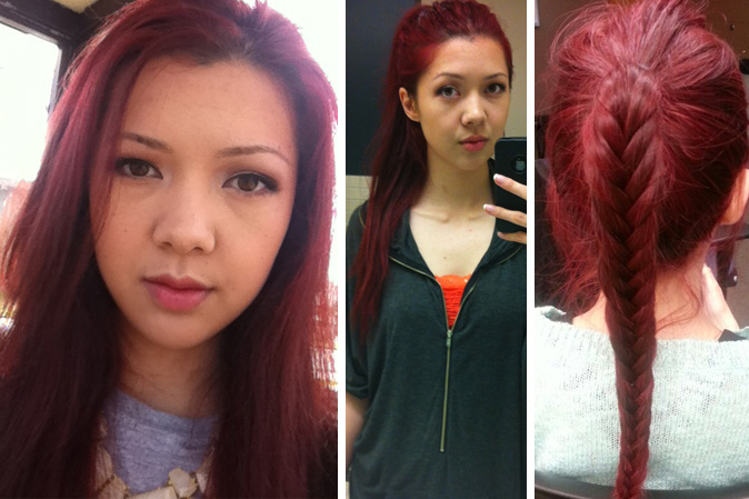 Loreal Hi Color Magenta Hair Dye Dark Red Without Bleach