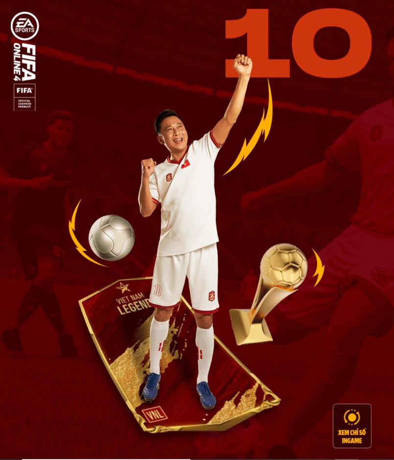 FIFA ONLINE 4   Soi chỉ số khủng diện mạo mới của Lê Huỳnh Đức Vietnam Legends - Tiền đạo toàn diện của bóng đá Việt Nam