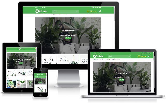 giao diện blogspot bán hàng cây cảnh miễn phí