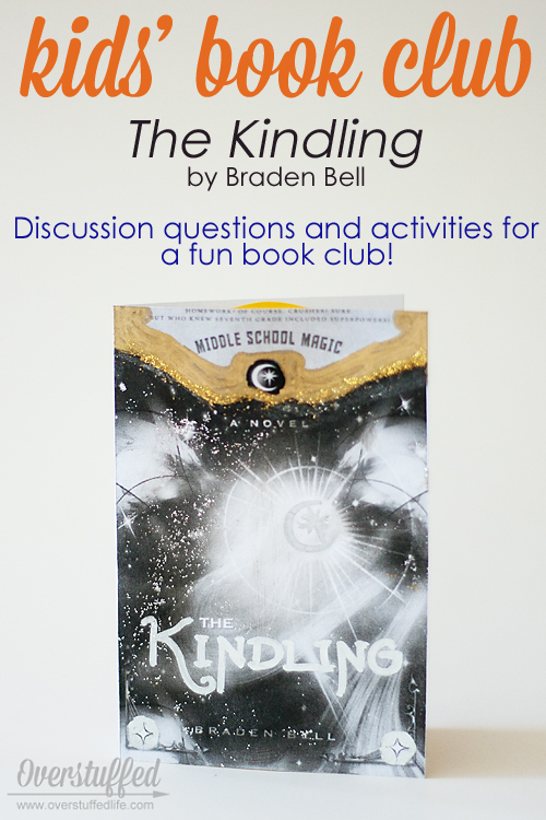 Discussion questions and activities to host a kids' summer book club for The Kindling by Braden Bell.