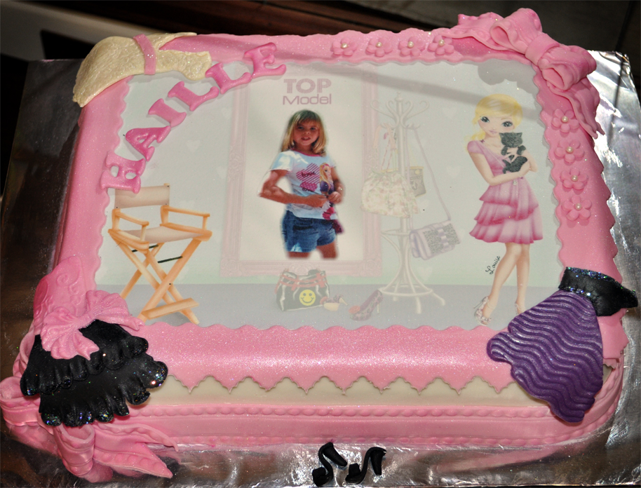 Delana S Cakes Top Model Picture Cake