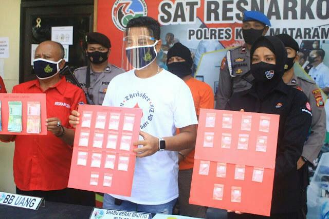Modus jual kue, Polisi ringkus bandar Sabu di Mataram