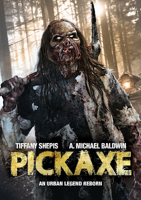DVD cover art for Wild Eye Releasing's DVD release of PICKAXE.