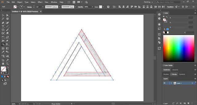 Penrose Triangle in Adobe Illustrator