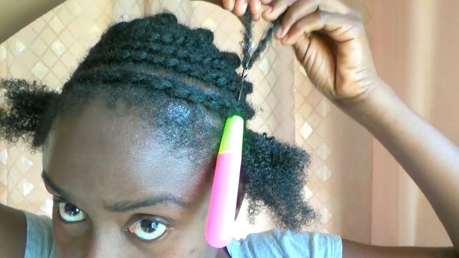 The Vlogging Truth Afro Kinky Crochet Natural Hairstyle On A 2