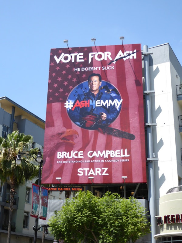 Vote for Ash vs Evil Dead 2016 Emmy billboard
