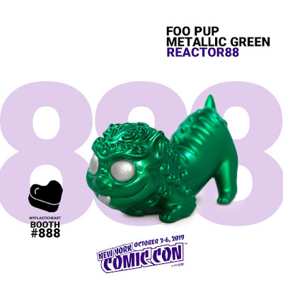 New York Comic Con 2019 Exclusive Foo Pup Metallic Green Edition Resin Figure by Reactor88 x myplasticheart