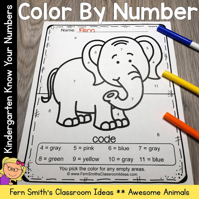 Click Here to Download This Color By Number Animals For Kindergarten Know Your Numbers Resource For Your Classroom Today!