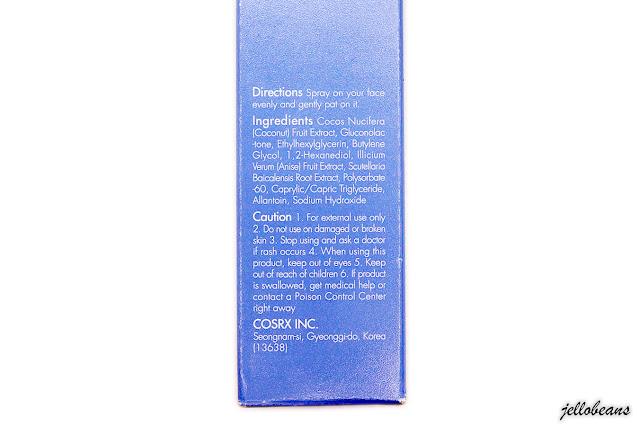 COSRX Low pH PHA Barrier Mist