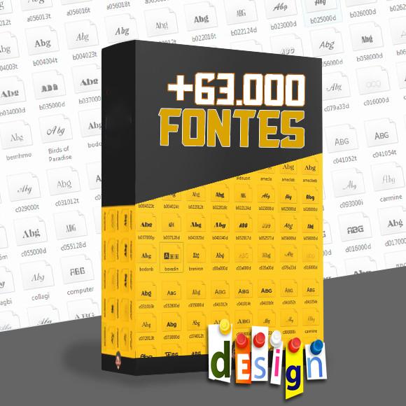 Pack 63.000 Fontes Design Download Grátis