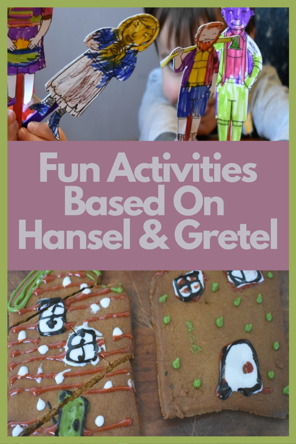 Hansel & Gretel Fairy Tale book crafts and activities for children