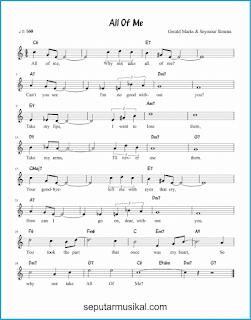 chord all of me lagu jazz standar
