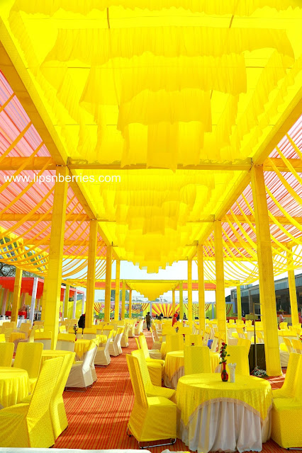 yellow theme venue design