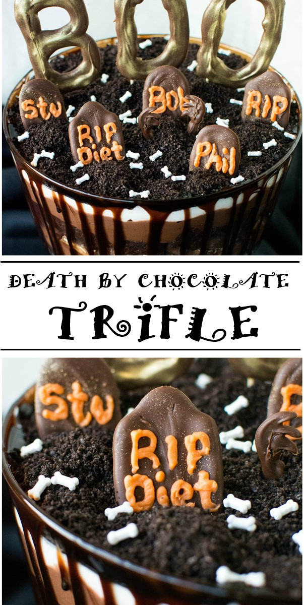 DEATH BY CHOCOLATE TRIFLE #halloweenrecipes