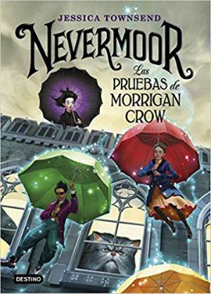Libro infantil niños halloween Nevermoor las pruebas de morrigan crow