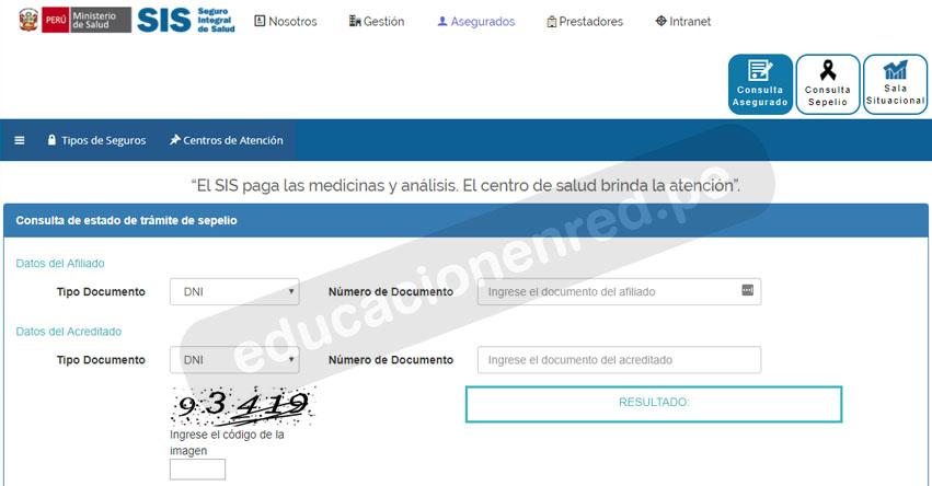 SIS EN LINEA: Lista de afiliados al seguro para el Pago de Sepelio 2018 - www.sis.gob.pe