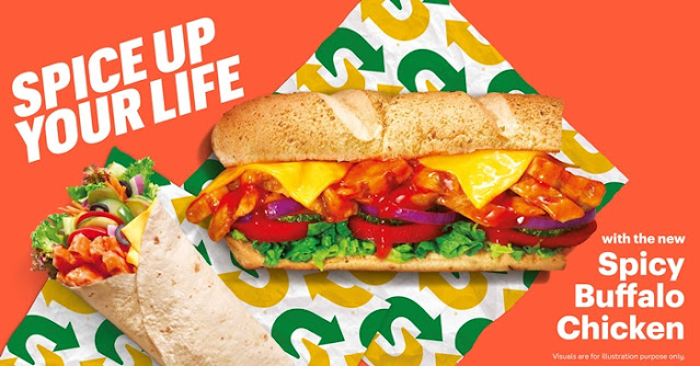 Spicy Indulgence with A Fresher Twist, Spicy Buffalo Chicken Sub, Subway, Subway Malaysia, Food