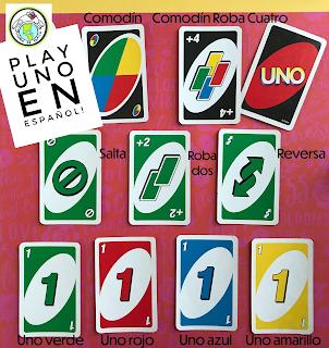 Play Uno en español Distance Learning Games in Spanish